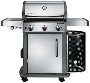 Weber 46703553 Spirit Premium S-320 GBS Barbecue à Gaz 3 Brûleurs Inox