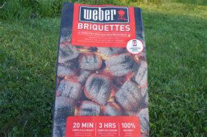 briquettes de charbon de bois Weber