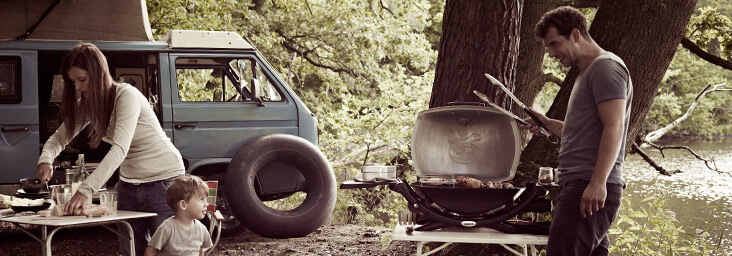 Faire du camping avec son barbecue Weber - source photo @ weberstephen.fr