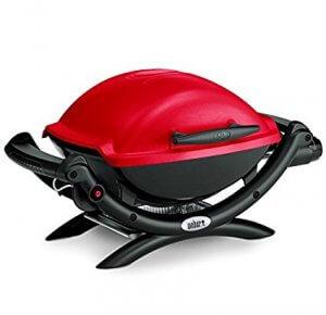 Weber Barbecue à gaz 2.6kw 42x32cm rouge Q 1000